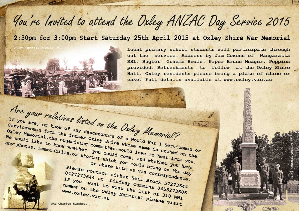 Oxley ANZAC Day Service 2015 Front 010415
